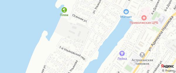 Улица Ульянова на карте Астрахани с номерами домов