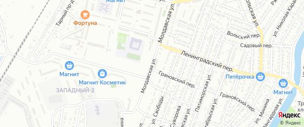 Молдавская улица на карте Астрахани с номерами домов