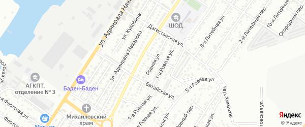 Ровная улица на карте Астрахани с номерами домов