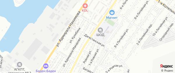 Дагестанская улица на карте Астрахани с номерами домов