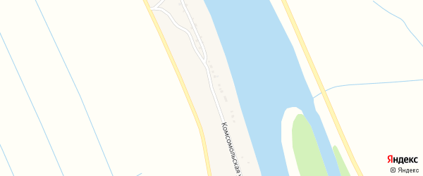 Комсомольская улица на карте Нижненикольского поселка с номерами домов