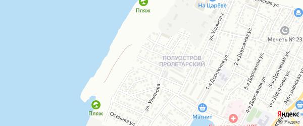 Архитектурная 1-я улица на карте Астрахани с номерами домов
