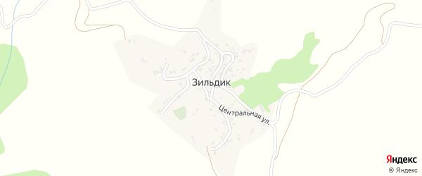 Солнечная улица на карте села Зильдика с номерами домов