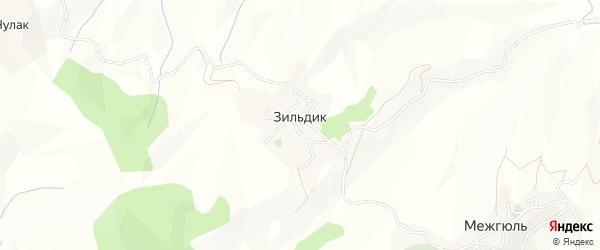 Карта села Зильдика в Дагестане с улицами и номерами домов