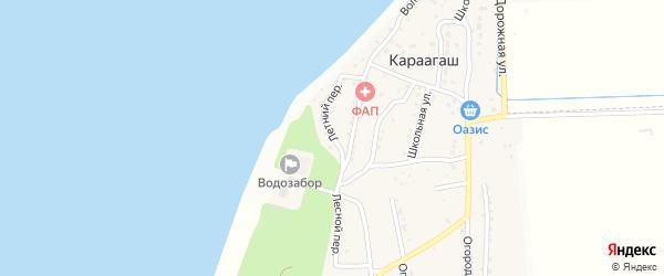 Летний переулок на карте поселка Караагаша с номерами домов