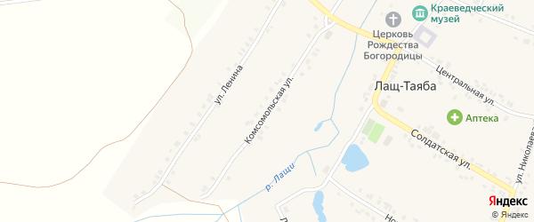 Улица Ленина на карте села Лаща-Таяба с номерами домов