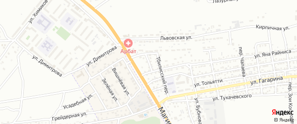 Мостовой переулок на карте Астрахани с номерами домов