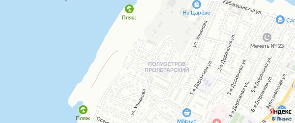 Архитектурная 2-я улица на карте Астрахани с номерами домов