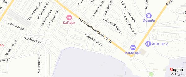 Ароматная улица на карте Астрахани с номерами домов
