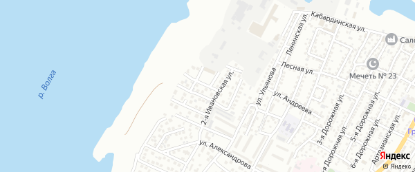 Архитектурная 3-я улица на карте Астрахани с номерами домов