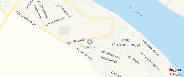 Улица Ленина на карте поселка Стеклозавода с номерами домов