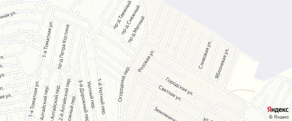 Розовая улица на карте села Карагали с номерами домов