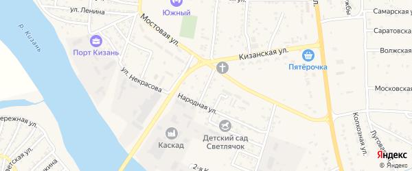 Улица Есенина на карте села Карагали с номерами домов