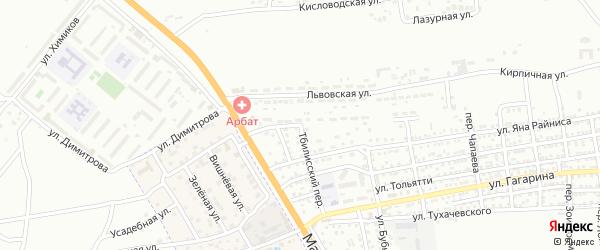 Новосибирская улица на карте Астрахани с номерами домов