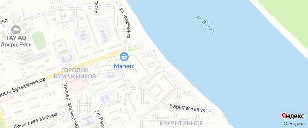 Улица Гамарника на карте Астрахани с номерами домов