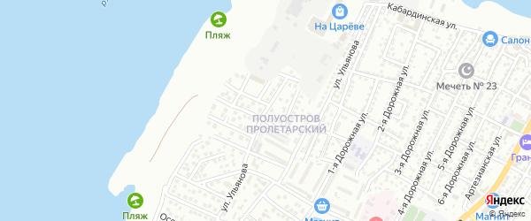 Ивановская 2-я улица на карте Астрахани с номерами домов