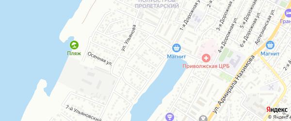 Ульяновский 2-й переулок на карте Астрахани с номерами домов