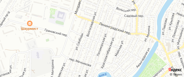 Улица Суворова на карте Астрахани с номерами домов
