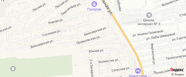 Приволжская улица на карте села Солянки с номерами домов