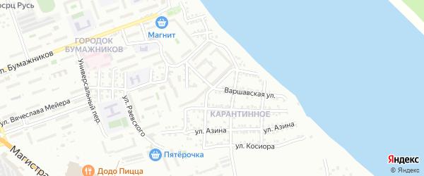 Варшавская улица на карте Астрахани с номерами домов