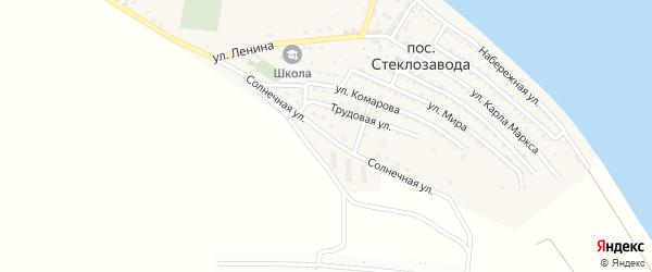 Солнечная улица на карте поселка Стеклозавода с номерами домов