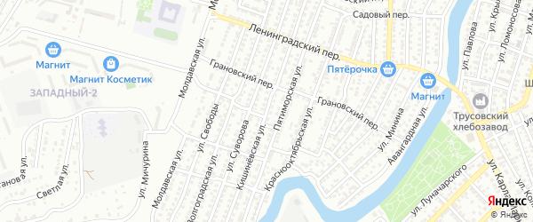 Кишиневская улица на карте Астрахани с номерами домов