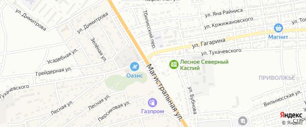 Гаванская улица на карте Астрахани с номерами домов