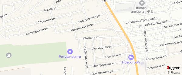 Южная улица на карте села Солянки с номерами домов