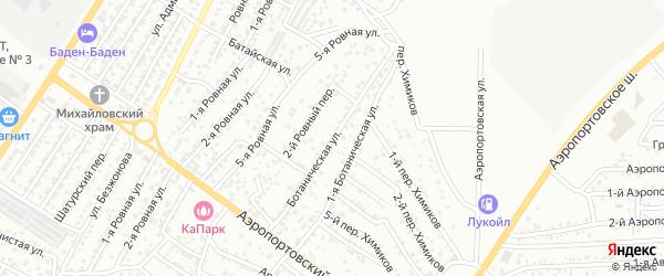 Ботаническая улица на карте Астрахани с номерами домов