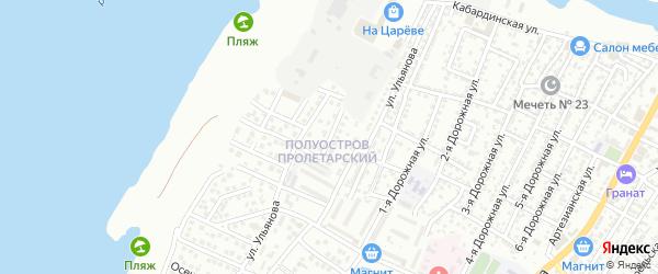 Ивановская 1-я улица на карте Астрахани с номерами домов
