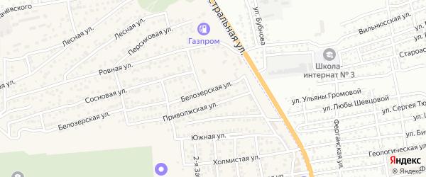 Белозерская улица на карте села Солянки с номерами домов