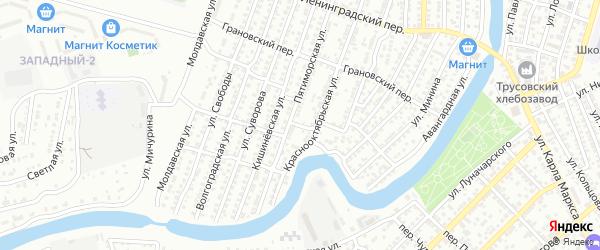 Переулок Мечникова на карте Астрахани с номерами домов