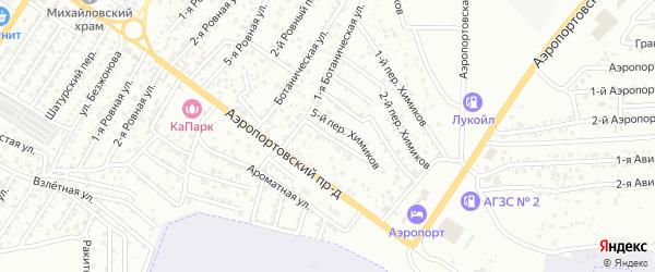 Химиков 6-й переулок на карте Астрахани с номерами домов