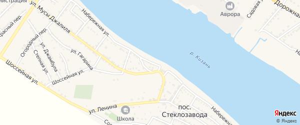 Улица Имени Большакова на карте поселка Стеклозавода с номерами домов