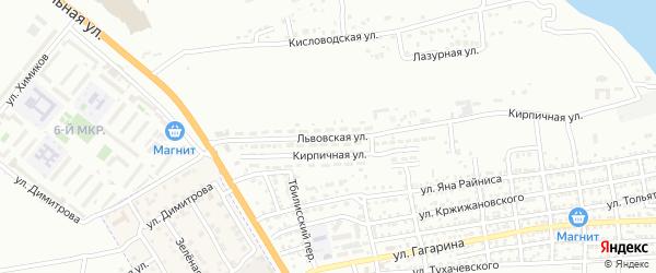 Львовская улица на карте Астрахани с номерами домов