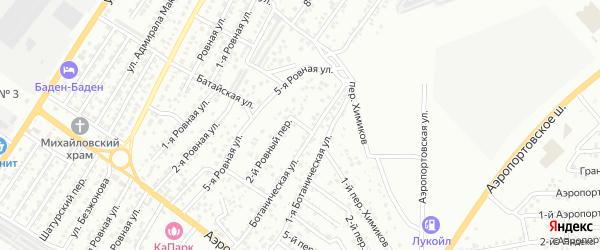 Ровный 1-й переулок на карте Астрахани с номерами домов