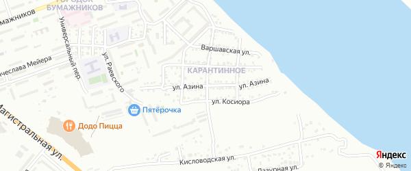 Улица Азина на карте Астрахани с номерами домов