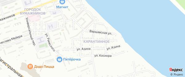 Улица Баренцева на карте Астрахани с номерами домов