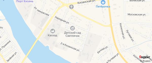 Заводская улица на карте села Карагали с номерами домов