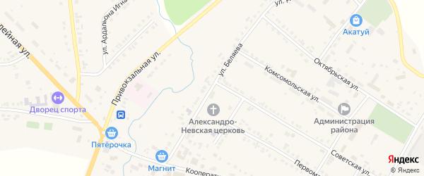 Улица Беляева на карте села Яльчиков с номерами домов