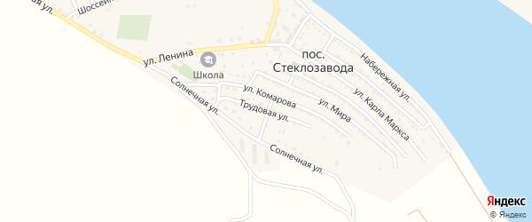 Трудовая улица на карте поселка Стеклозавода с номерами домов