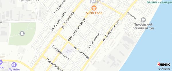 Медногорская улица на карте Астрахани с номерами домов