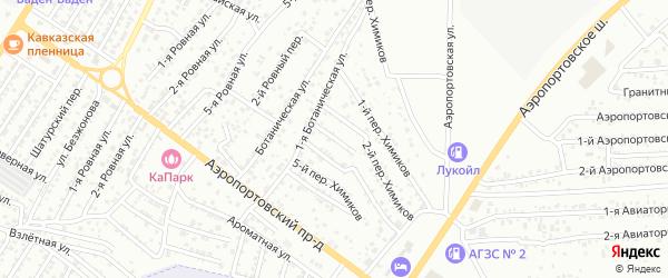 Химиков 3-й переулок на карте Астрахани с номерами домов
