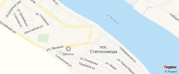 Улица Пушкина на карте поселка Стеклозавода с номерами домов