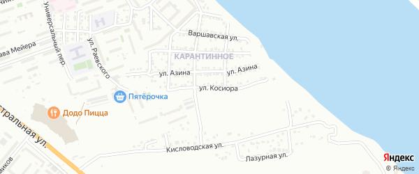 Улица Косиора на карте Астрахани с номерами домов