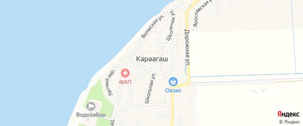 Лесная улица на карте поселка Караагаша с номерами домов