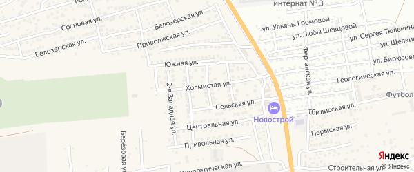 Огородная улица на карте села Солянки с номерами домов