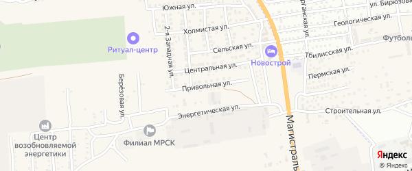Привольная улица на карте села Солянки с номерами домов