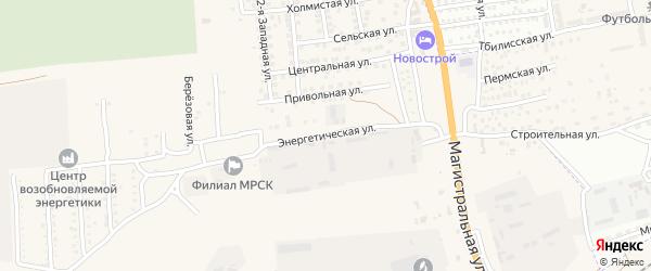 Энергетическая улица на карте села Солянки с номерами домов
