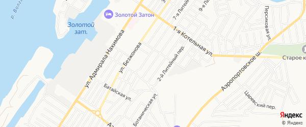 На страже на карте Астрахани с номерами домов